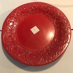 Sweet Ceramics Red Platter